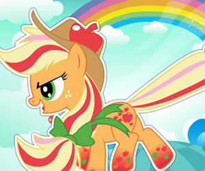 SUPER GRA: MLP Applejack Rainbow Power Style