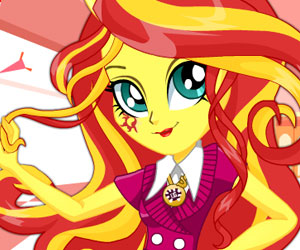 MLP EG: Sunset Shimmer School Spirit Style