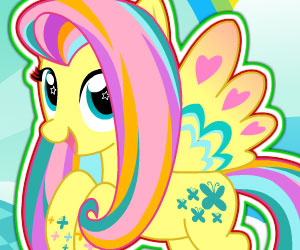 SUPER GRA: MLP: Fluttershy Rainbow Power Style