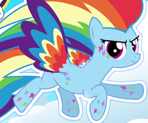 SUPER GRA: MLP: Rainbow Dash Rainbow Power Style